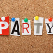 The word Party — Stock Photo