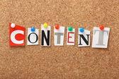 Content — Stock Photo