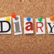 The word Diary — Stockfoto