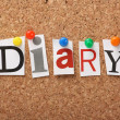 The word Diary — Foto de Stock