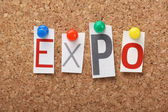 The word Expo — Stock Photo