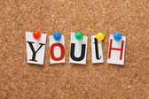The word Youth — Stock Photo