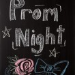 Stock Photo: Prom Night Sign