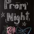 Prom Night Sign — Stock Photo