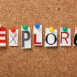 The word Explore — Foto Stock