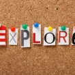 The word Explore — Stock Photo