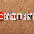 The word Comment — Stock Photo