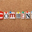Stock Photo: Word Comment