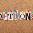 Stock Photo: Options