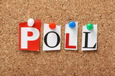 The word Poll — Stock Photo