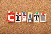 The word Create — Stock Photo