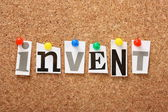 The word Invent — Stock Photo