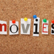 The word Movies — Stock Photo