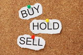 Buy, Hold or Sell? — Stock Photo