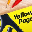 Yellow Pages Directory — Stock Photo