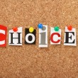 The word Choices — Foto Stock