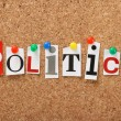 The word Politics — Stock Photo