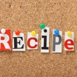 The word Recipes — Stock Photo
