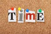 Het woord tijd — Stockfoto