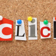 The word Click — Stock Photo