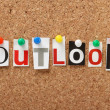 Stock Photo: Word Outlook