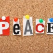 The word Peace — Stock Photo