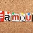 The word Famous — Stock Photo