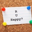 R U Happy? — Stock Photo