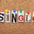 The word Single — Stock Photo