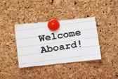 Welcome Aboard! — Stock Photo