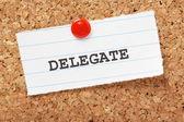 Delegate — Stock Photo