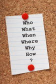 Who What Where? — Stock Photo