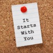 It Starts With You — Stock Photo