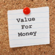 Value For Money — Stock Photo