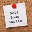 Stock Photo: Sell Your Skills