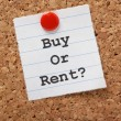 Buy Or Rent? — Stock Photo
