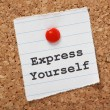 Express Yourself — Stock Photo