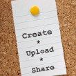 Create Upload Share — Stock Photo