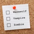 Werewolf, Vampire or Zombie — Stock Photo