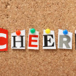 The word Cheers — Stock Photo