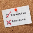 Stock Photo: Proactive versus Reactive