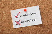Proactive versus Reactive — Stock Photo
