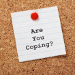 Are You Coping? — 图库照片