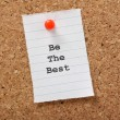 Be The Best — Foto Stock