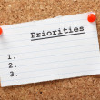 List of Priorities — Stockfoto