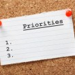 Stock Photo: List of Priorities