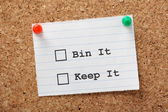 Bin it or Keep it? — Stock Photo