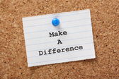 Make A Difference — Stock Photo