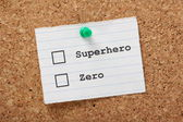 Superhero or Zero? — Stock Photo