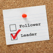 Follower or Leader? — Stock Photo